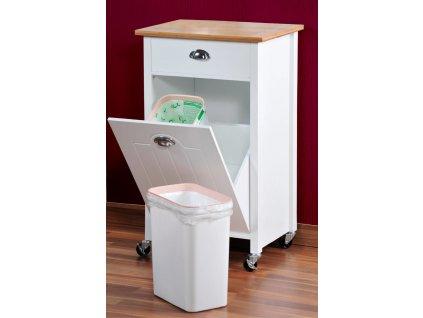 Kuchyňský vozík na kolečkách, bílý, KESPER