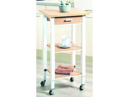 Dřevěný stůl na kolečkách s nastavitelnou výškou