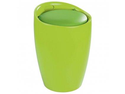 Plastický koš na prádlo v olivové barvě Candy LIGHT GREEN, 51x36 cm