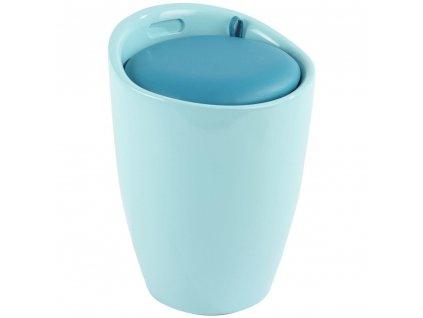 Modrý koš na prádlo z plastu Candy LIGHT ICE BLUE, 36x51 cm, WENKO