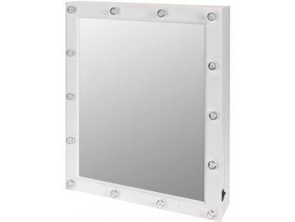 Zrcadlo, skříňka na šperky - 2 v 1,podsvícení LED