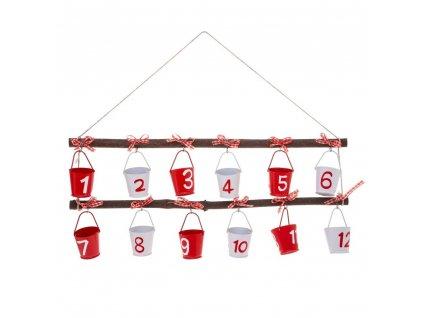 Adventní kalendář s dárkovými hrnci, 12 hrnců