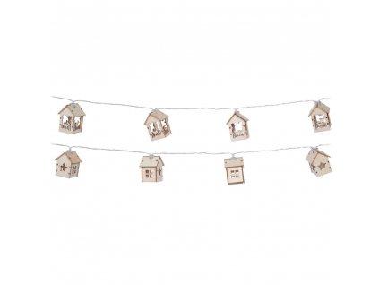 10 LED chat, motiv horské chaty, dekorativní světlo