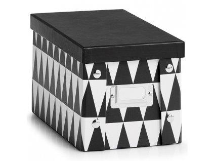 Krabice z lepenky pro ukládání předmětů, dekorativní nádoba s víkem, krabice na dokumenty.