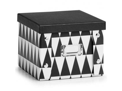 Dekorativní krabička na drobné předměty, malá kartonová krabice, malá krabička sloužící jako organizátor.