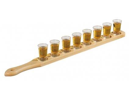 stojan na borové sklo barmanské doplňky na skleněnou polici alkoholové doplňky Kesper