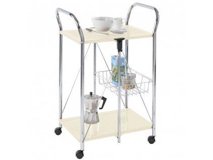 Kovový vozík pro servírování jídel SUNNY, 56.5x90.5x44 cm, WENKO