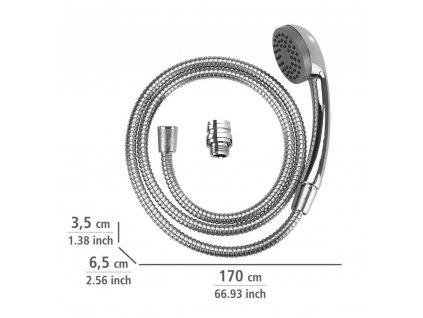 Ruční sprchový set pro umyvadlo baterie, přenosný gadget z nerezové oceli, hadice 150 cm, WENKO