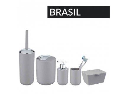Dávkovač mýdla BRASIL, šedá, 320 ml, WENKO