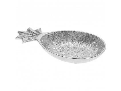 Dekorativní miska na drobné předměty ANANANAS - stříbrná, 20 cm