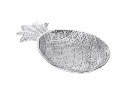 Dekorativní kovová deska z ananasu, stříbrná deska, mísa s ovocem, stříbrný podnos, dekorativní podnos, domácí dekorace