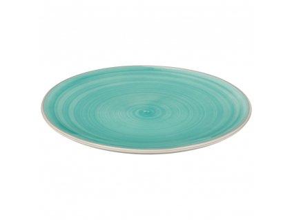 Keramický dezertní talíř v tyrkysové, dekorativní keramická deska na dezerty a předkrmy