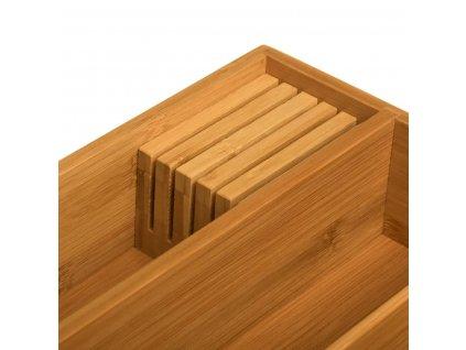 Organizátor zásuvky na příbory, 100% bambus, 5 přihrádek, 38 x 28 cm.