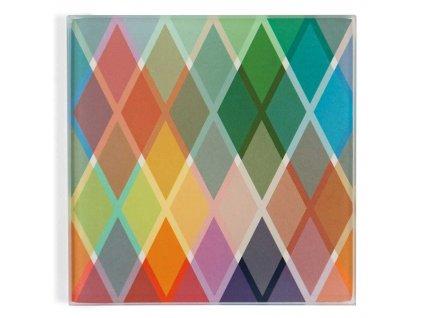 Kuchyňská deska pro řezání v barevných vzorcích, deska ze skla