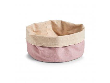 Kontejner na chléb, Košík bavlny, kulatý, růžový, Ø 20 cm, ZELLER