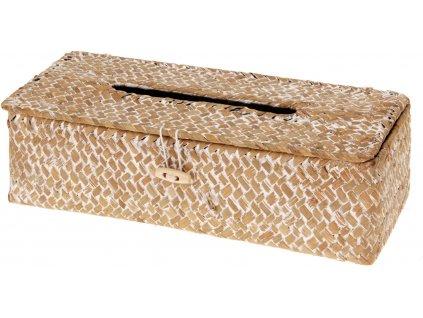 Dóza na papírové kapesníčky, skříňka - seagrass