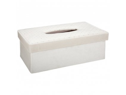 Kapesník kontejner s vánočním motivem, barva bílá