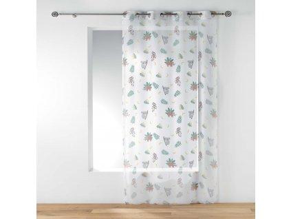 Bílé závěsy pro děti MARLEY, 140 x 240 cm