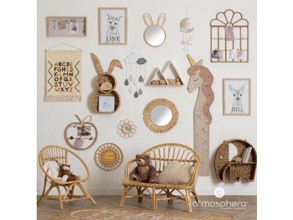 Dekorace dětského pokoje, závěsná dekorace pro děti, šedý mrak