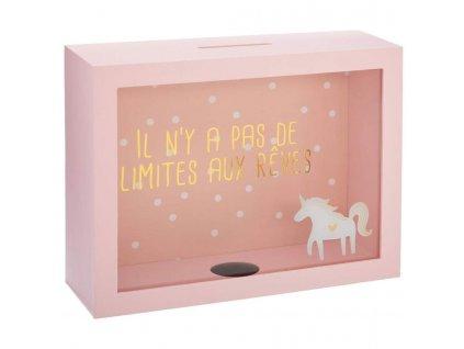Money Box, Peněžní box, Skladovací box, barva růžová