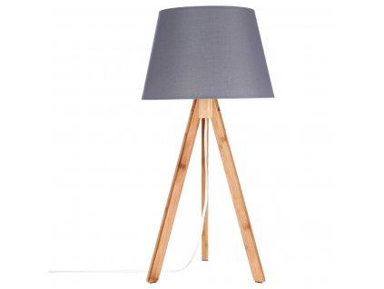 BAHI bambusové stolní lampa šedá 55 cm