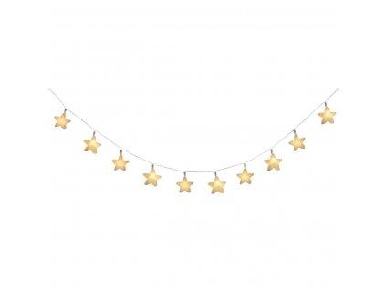 LED věnec, motiv STAR, řetěz světla
