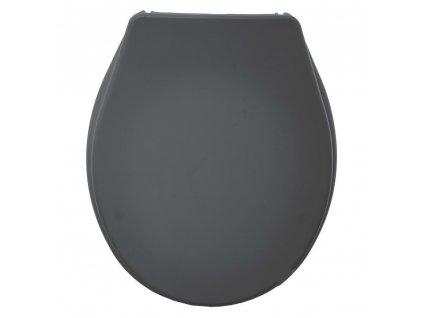 Toaletní sedadlo COLORAMA, plast, tmavě šedá barva