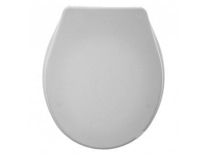 Toaletní sedadlo COLORAMA, plast, světle šedá barva