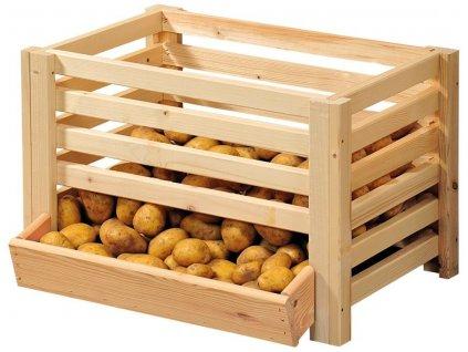 Koš na ovoce a zeleninu, 60 x 43 x 40 cm, dřevo, Kesper