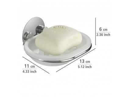 Držák na mýdlo Turbo-Loc, 15x13x3 cm, WENKO