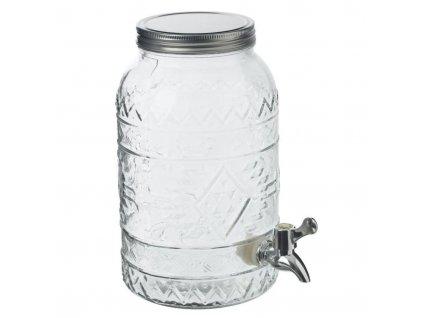 Dávkovač nápojů 3 L s kohoutkem, sklo