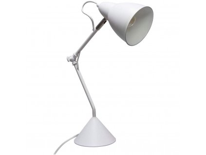 AUDE stolní lampa, kov, 62 cm, bílá