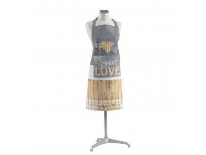 Bavlněná kuchyňská taška HERTY, 60 x 84 cm, dámská