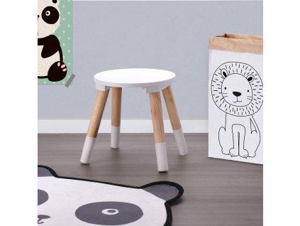 Dětská stolička Ø 24 x 26 cm, bílá