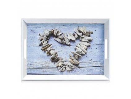 ZELLER, Kuchyňský podnos HEART, 50x35x5cm
