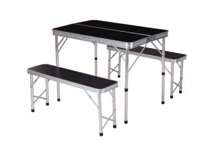 Kempingový set: stůl + 2 lavice , sada
