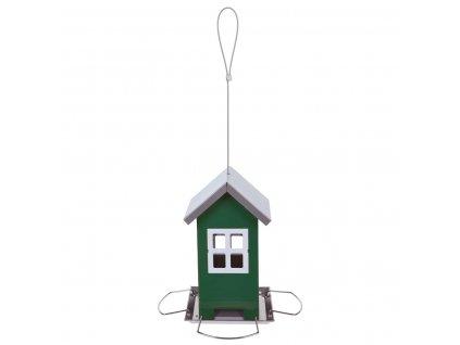 Krmítko pro ptáky HOUSE, kovové, zelené