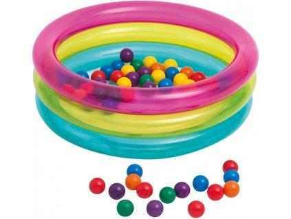 Nafukovací bazén pro děti + míčky  Ø 86 cm, INTEX