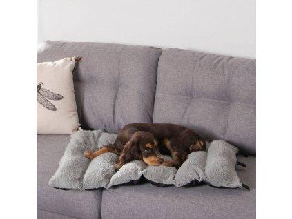 Cestovní podložka pro psy, BICOLORE, 80 x 50 cm, černá + šedá barva