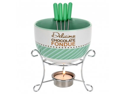 Atraktivní fondue set pro 4 osoby, keramika, 15 x 11 cm