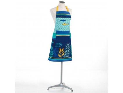 Damská kuchyňská zástěra BLUE LAGOON, bavlna, 60 x 84 cm, modrá