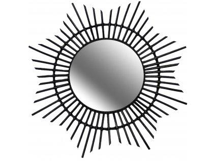 Dekorativní kulaté zrcadlo HORIZON LOINTAIN,  Ø 46 cm, barva černá