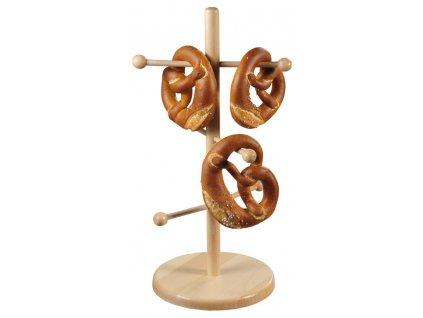 Závěs z bukového dřeva, šestišitý stojan na šálky a šálky.
