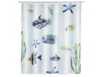Sprchový závěs s grafickým designem, ochranný polyester koupelnový závěs 200 x 180 cm, WENKO