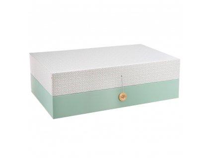 Krabice na šperky, duplexní box pro ukládání cenností