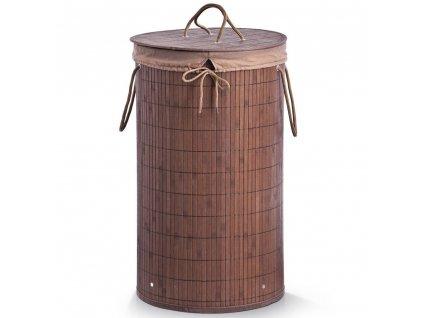 Bambusový koš na prádlo, 55 l, tmavě hnědá barva, ZELLER