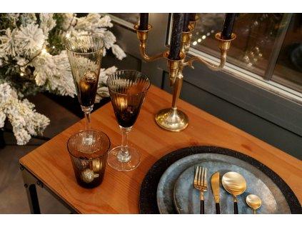 Sklenice na víno MARC, 280 ml, šedá