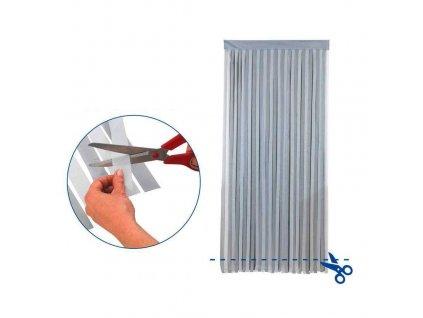 Závěs do dveří, 90 x 200 cm, šedý, WENKO