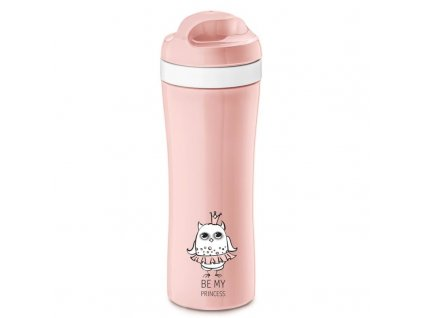 Cestovní láhev ELLI, 430 ml - pastelově růžová barva, KOZIOL