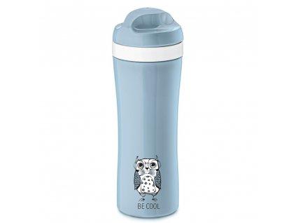 Cestovní láhev ELLI, 430 ml - pastelově modrá barva, KOZIOL
